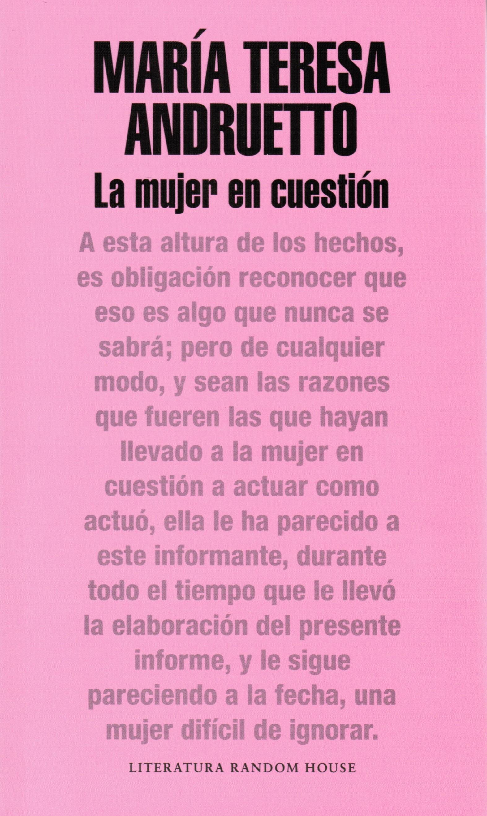 The woman in question (La mujer en cuestión)